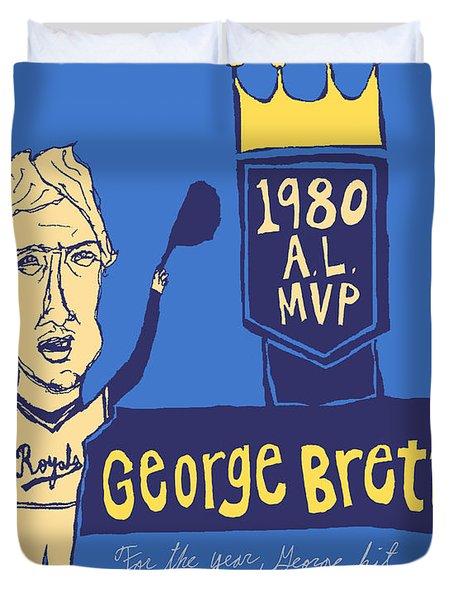 George Brett Kc Royals Duvet Cover