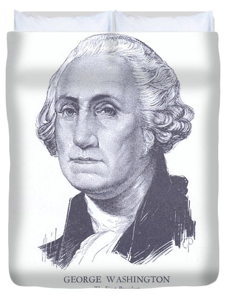 George Washington, The First President Duvet Cover