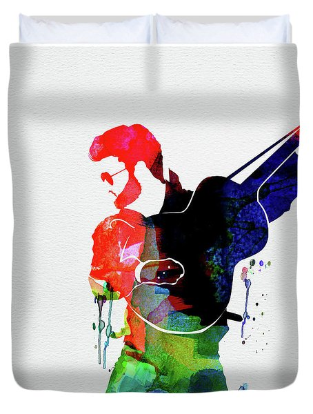 George Watercolor Duvet Cover