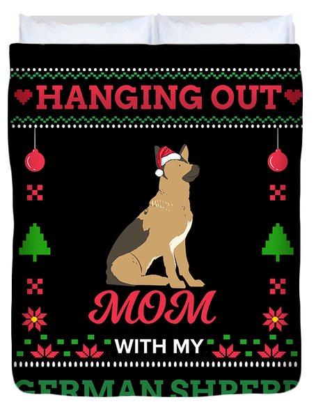 german shepherd ugly christmas sweater xmas gift duvet cover