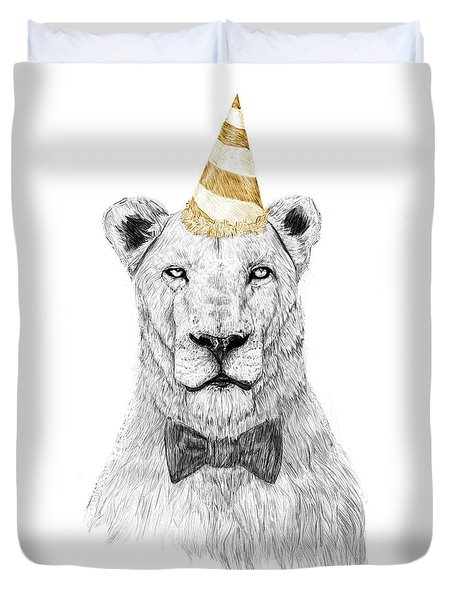 Get The Party Started Duvet Cover
