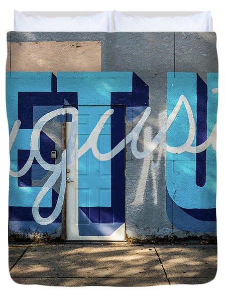 Get Up Augusta Ga Mural  Duvet Cover