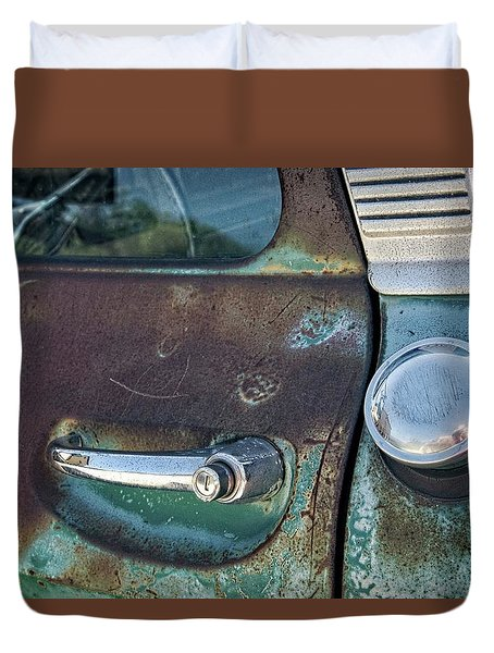 Duvet Cover featuring the photograph Getting A Handle On It by Lynn Bauer