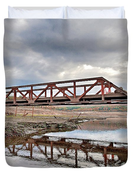 Ghost Bridge - Colebrook Reservoir Duvet Cover