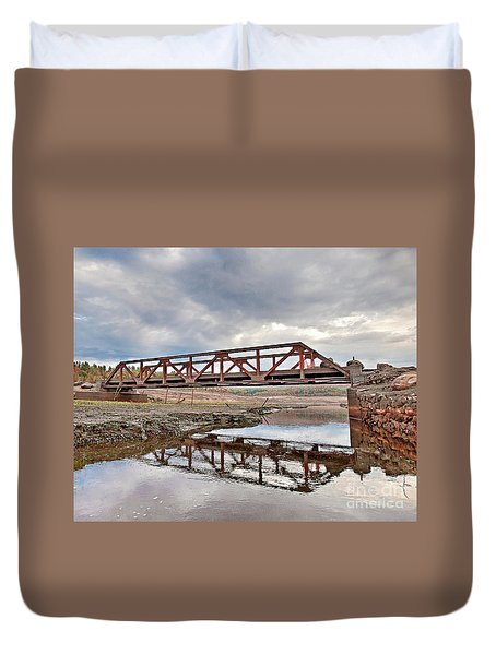 Ghost Bridge - Colebrook Reservoir Duvet Cover