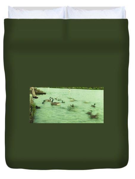 Ghost Ducks Duvet Cover