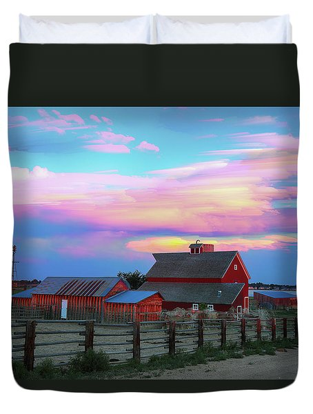 Duvet Cover featuring the photograph Ghost Horses Pastel Sky Timed Stack by James BO Insogna
