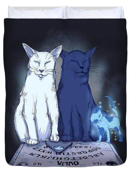 Ghost Kitten Duvet Cover