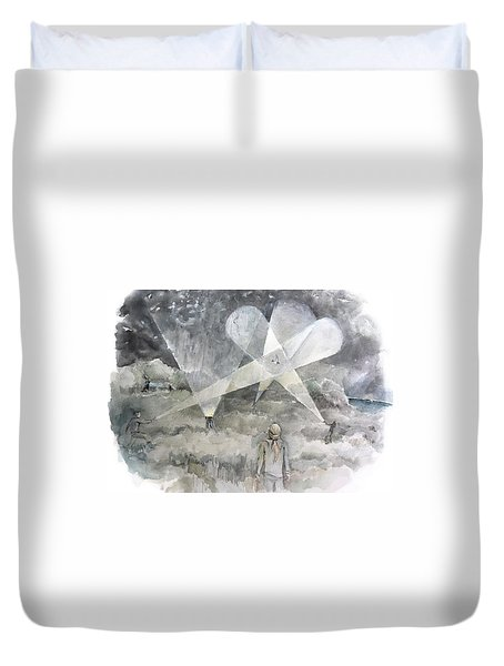 Ghostbusting The New Zealand Storm-petrel Duvet Cover