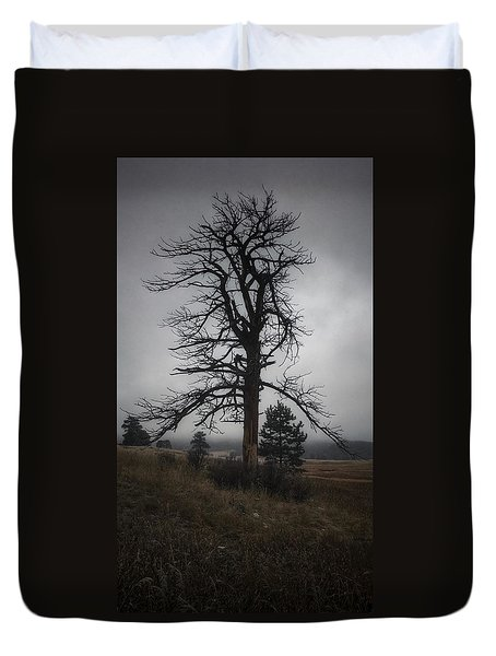 Duvet Cover featuring the photograph Ghostly Snag by Dan Miller