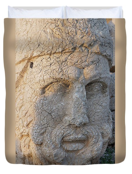 Giant Head Of Heracles,  Tumulus Duvet Cover
