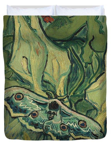 Giant Peacock Moth Duvet Cover