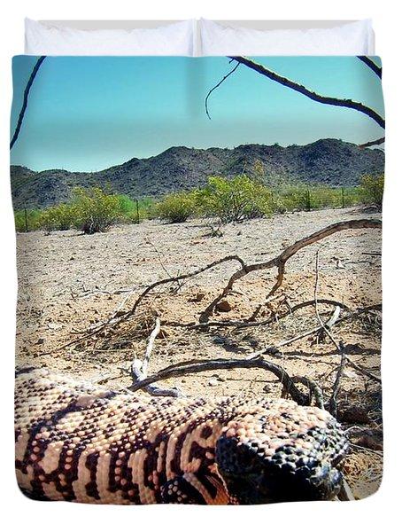 Gila Monster In The Arizona Sonoran Desert Duvet Cover
