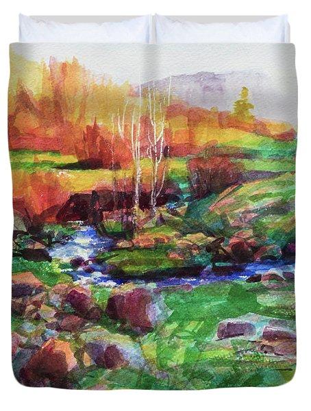 Gilded Hillside Duvet Cover