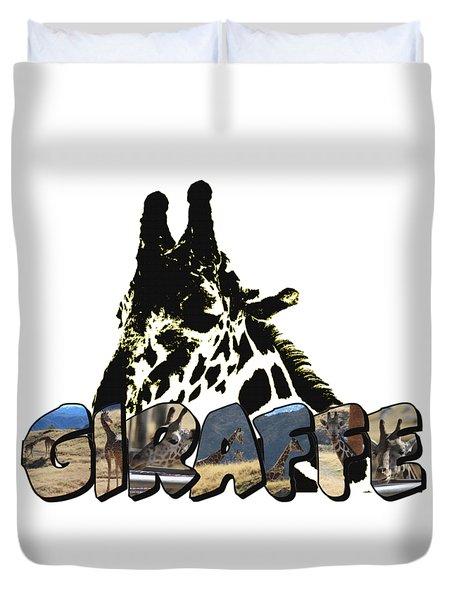 Giraffe Big Letter Duvet Cover