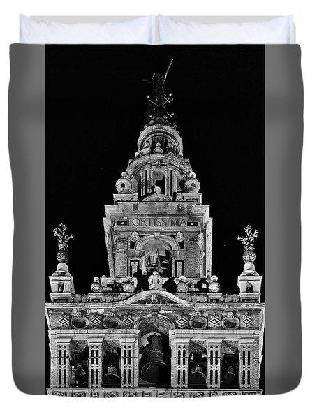 Giralda Tower In Monochrome. Seville Duvet Cover