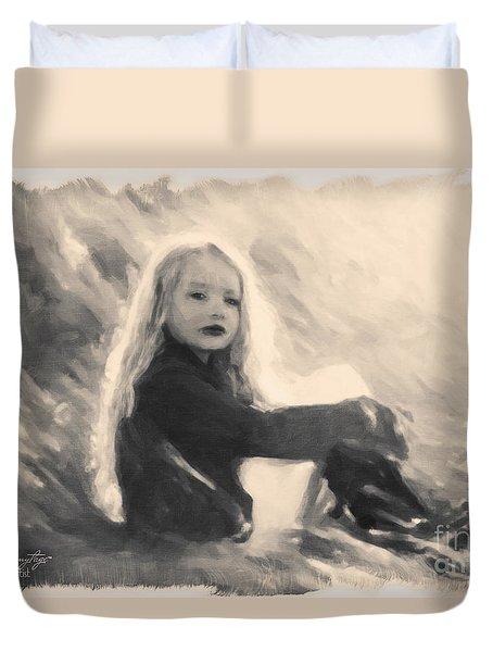 Girl In Jodpurs Duvet Cover