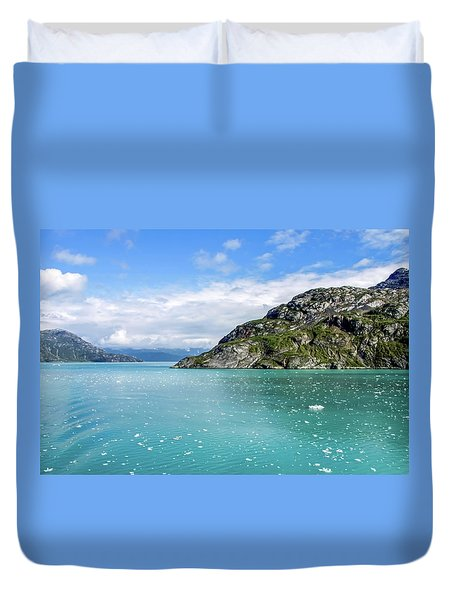 Duvet Cover featuring the photograph Glacier Bay 6 by Dawn Richards