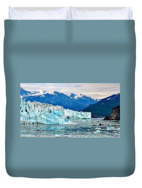 Glacier Calving Alaska  Duvet Cover