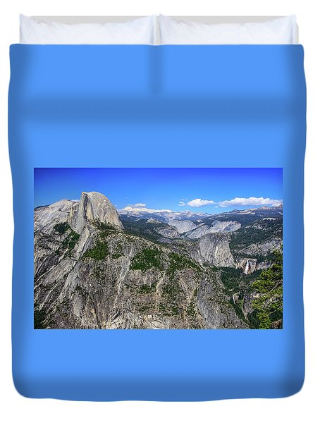 Duvet Cover featuring the photograph Glacier Point Overlook by Dawn Richards