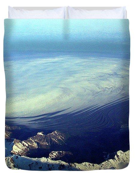 Glacier Pushes Out Duvet Cover