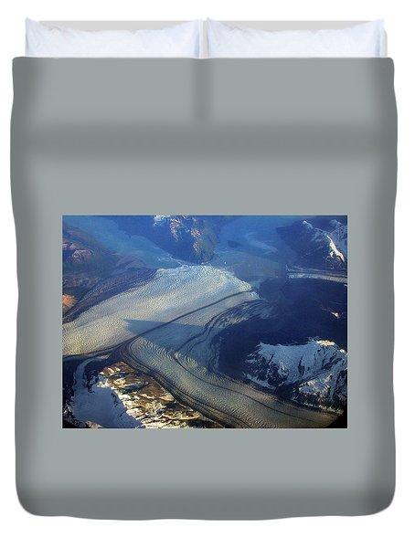 Glaciers Converge Duvet Cover