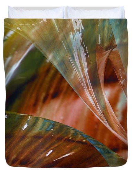 Glass Blowing Dance Duvet Cover