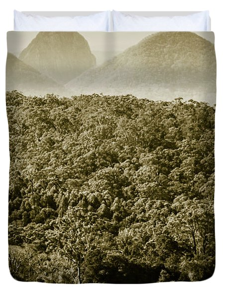 Glass House Mountains Duvet Cover