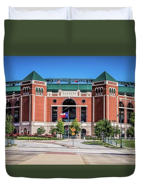 Duvet Cover featuring the photograph Globe Life Park In Arlington by Robert Bellomy