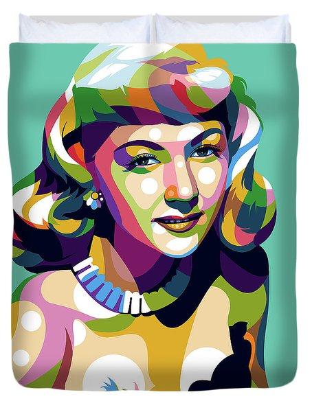 Gloria Graham Duvet Cover