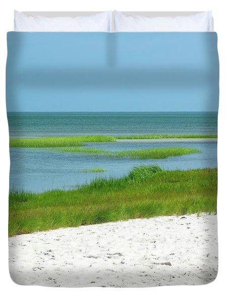 Glowing Beach Grasses Cape Cod Duvet Cover