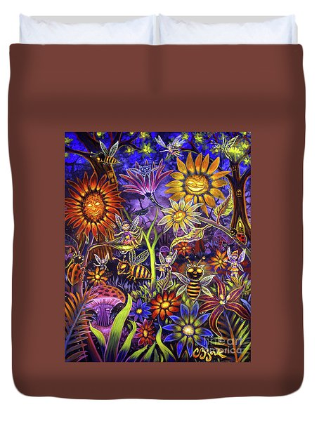 Glowing Fairy Forest Duvet Cover