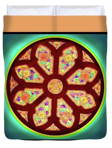 Glowing Rosette Duvet Cover