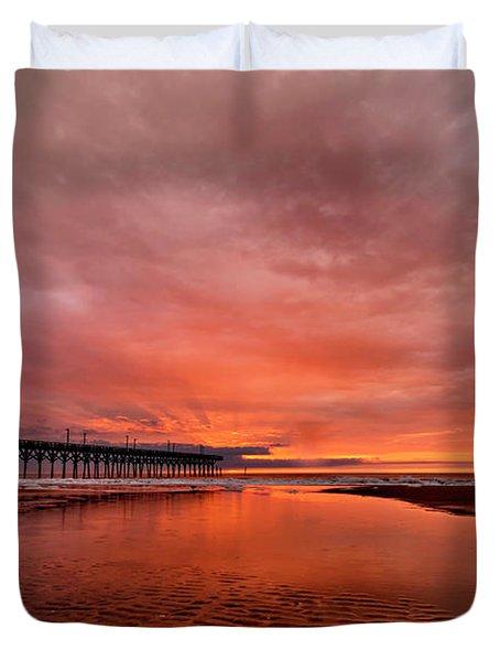 Glowing Sunrise Duvet Cover