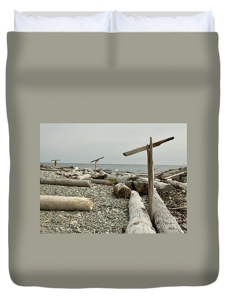 Go North Young Man Duvet Cover