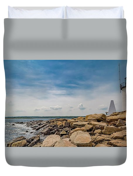 Goat Island Lighthouse Breath Of Fresh Air Duvet Cover