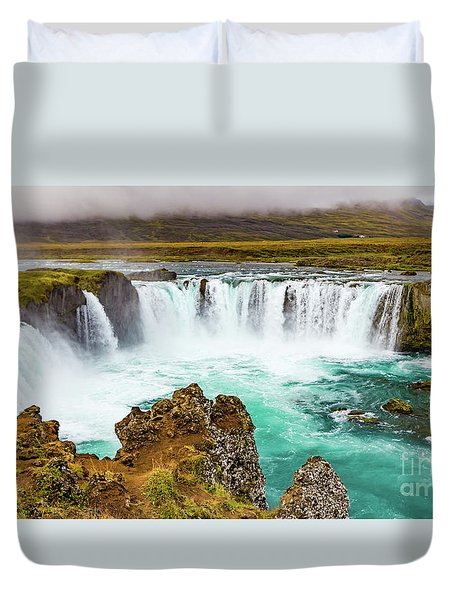 Godafoss Waterfall, Iceland Duvet Cover