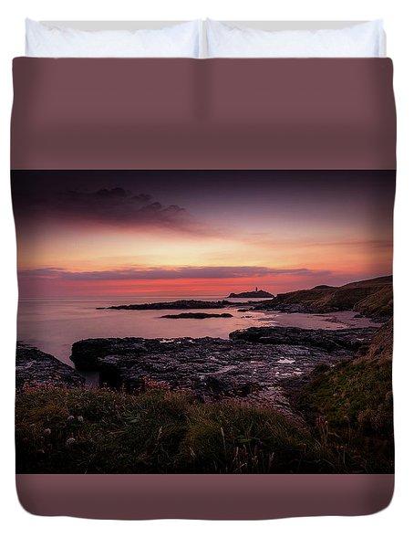 Godrevy Sunset - Cornwall Duvet Cover