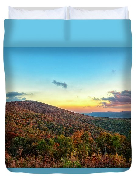 Duvet Cover featuring the photograph God's Canvas by Russell Pugh