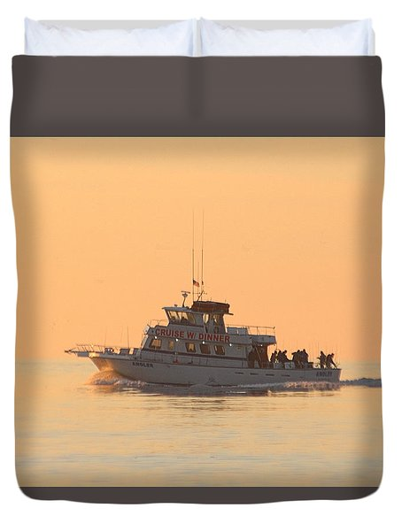 Duvet Cover featuring the photograph Going Fishing On The Angler by Robert Banach