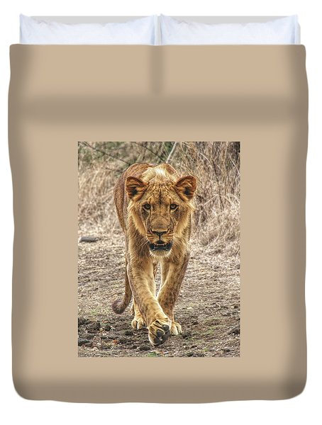 Going For A Stroll Duvet Cover
