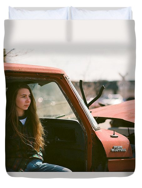 Duvet Cover featuring the photograph Going Nowhere by Carl Young