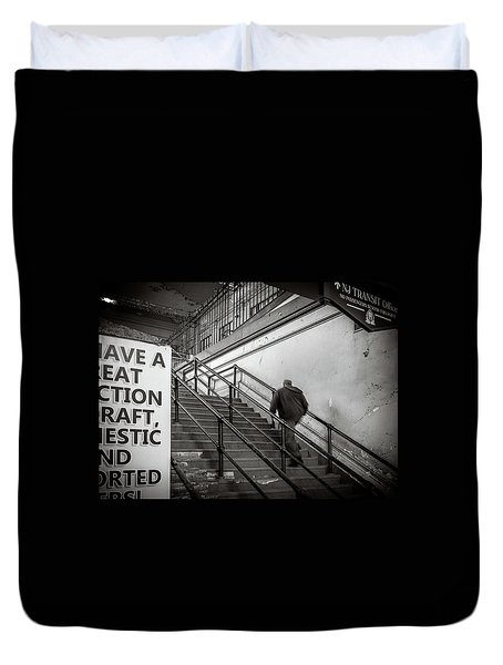 Duvet Cover featuring the photograph Going Up by Steve Stanger
