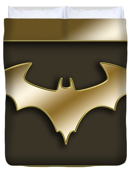 Golden Bat Duvet Cover