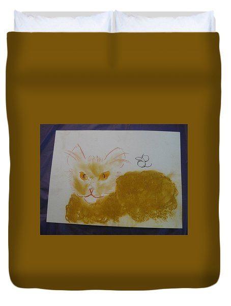 Golden Cat Duvet Cover
