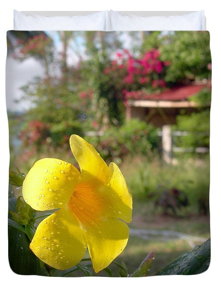 Golden Dew Duvet Cover
