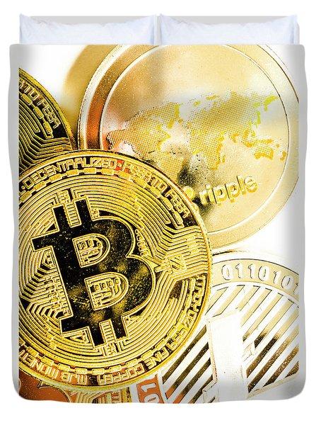 Golden Exchange Duvet Cover