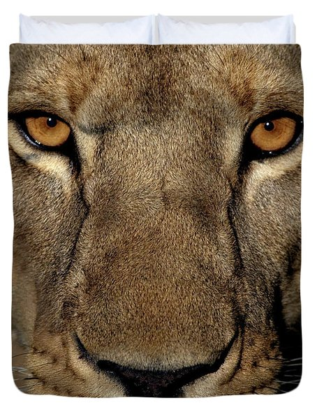 Golden Eyes Duvet Cover