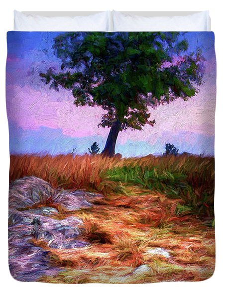 Golden Grasses Of Autumn Ap Duvet Cover