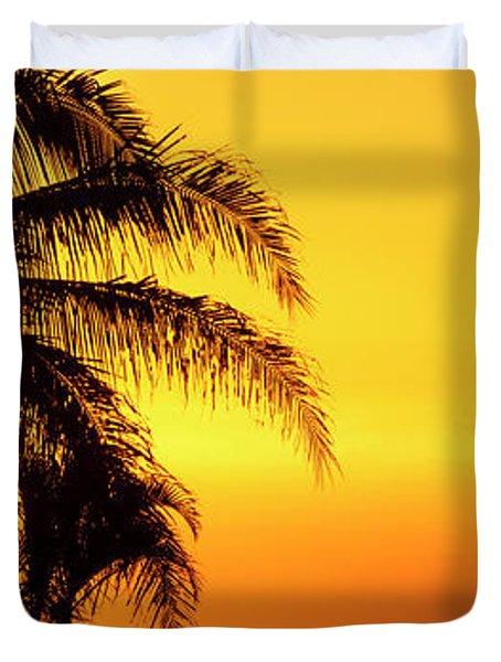 Golden Hawaiian Sunset Duvet Cover